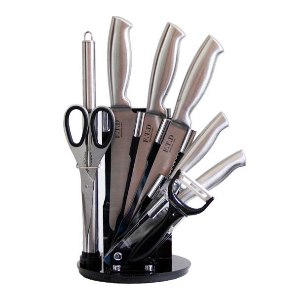 سرویس چاقو آشپزخانه 9 پارچه اف تی دی مدل S990