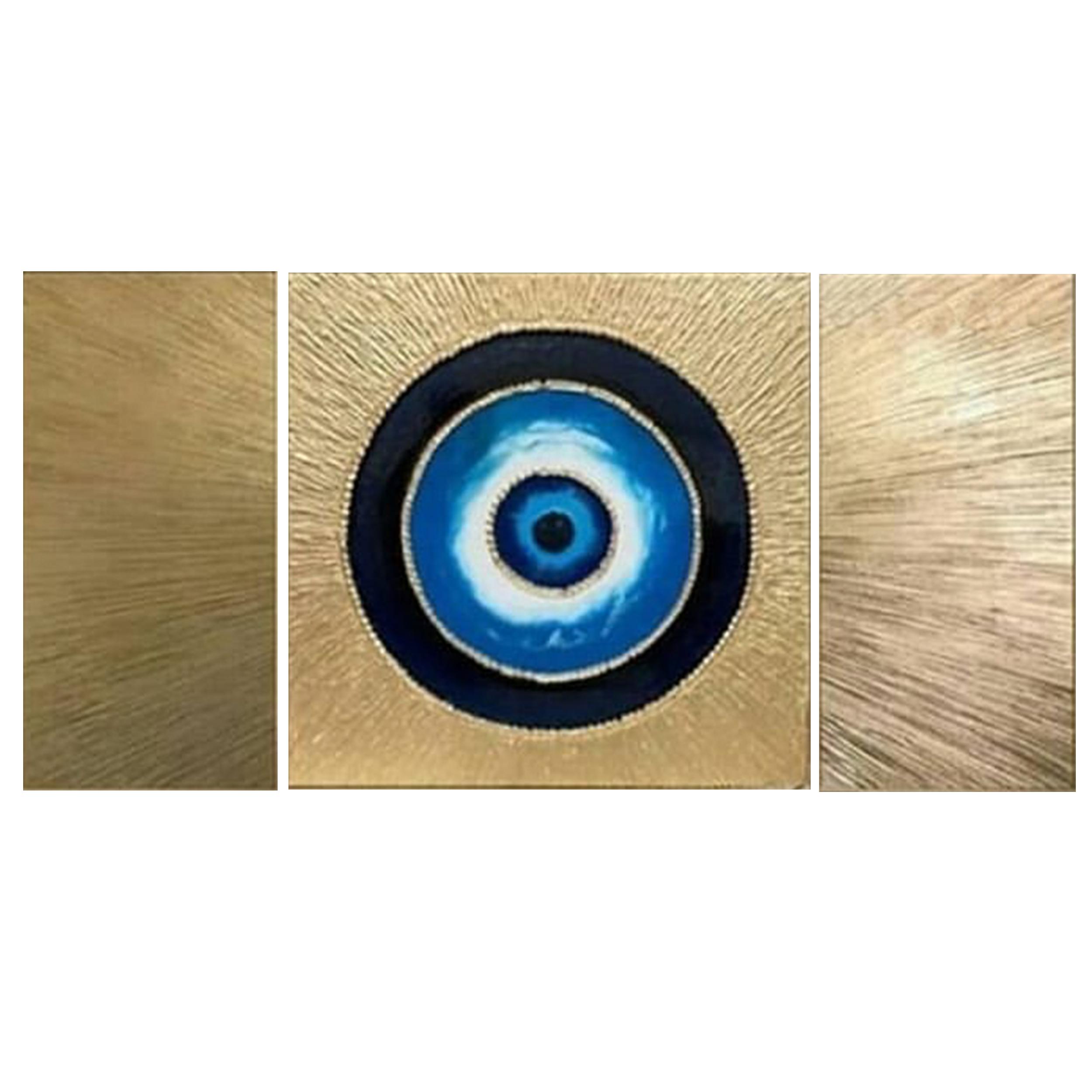 تابلو نقاشی اکریلیک طرح چشم نظر مجموعه سه عددی