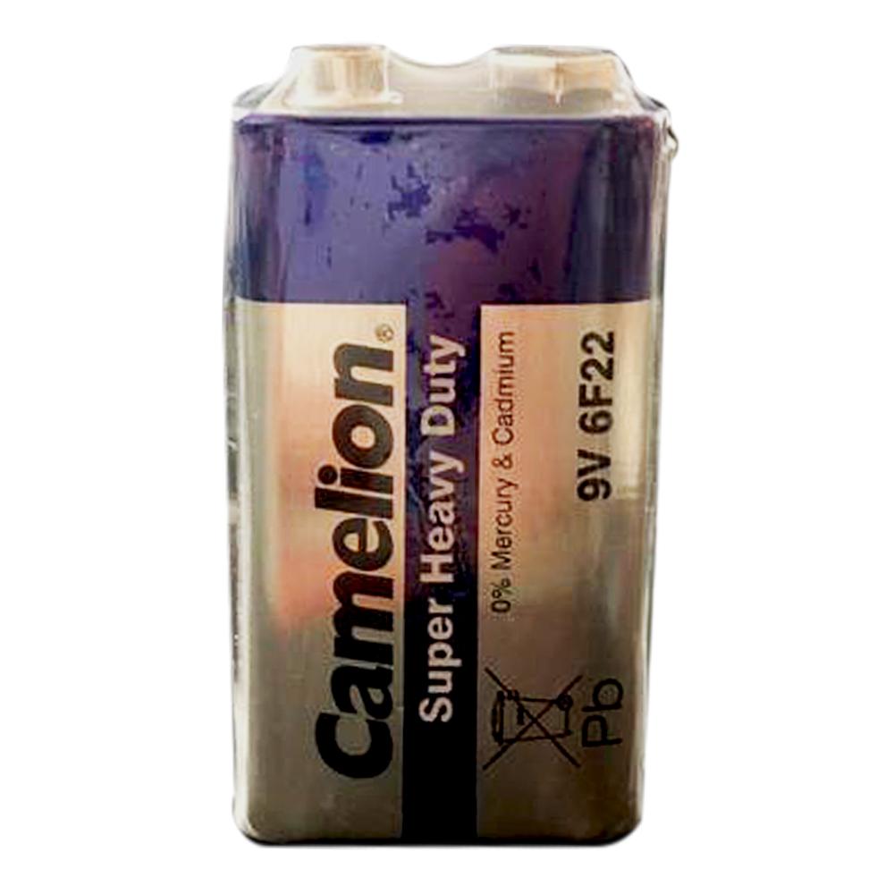 بررسی و {خرید با تخفیف}                                     باتری کتابی کملیون مدل super heavy 6F22                             اصل