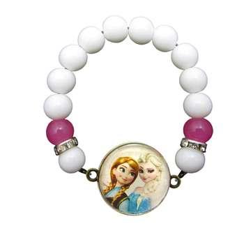 دستبند دخترانه طرح السا و آنا کد 070