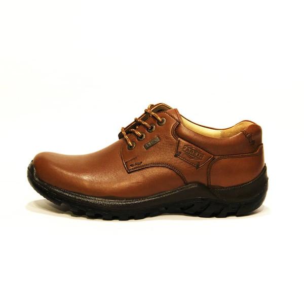کفش روزمره مردانه فرزین کد cbw012 رنگ گردویی