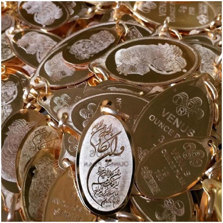 شمش طلا 18 عیار ونوس کد 2500