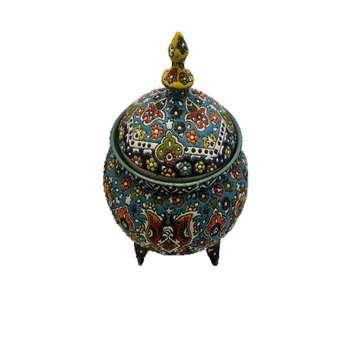 شکلات خوری میناکاری سفالی مدل قاجار کد 2854924