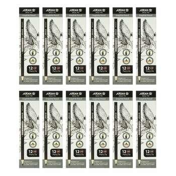 مداد مشکی آریا کد3001 بسته 12 عددی