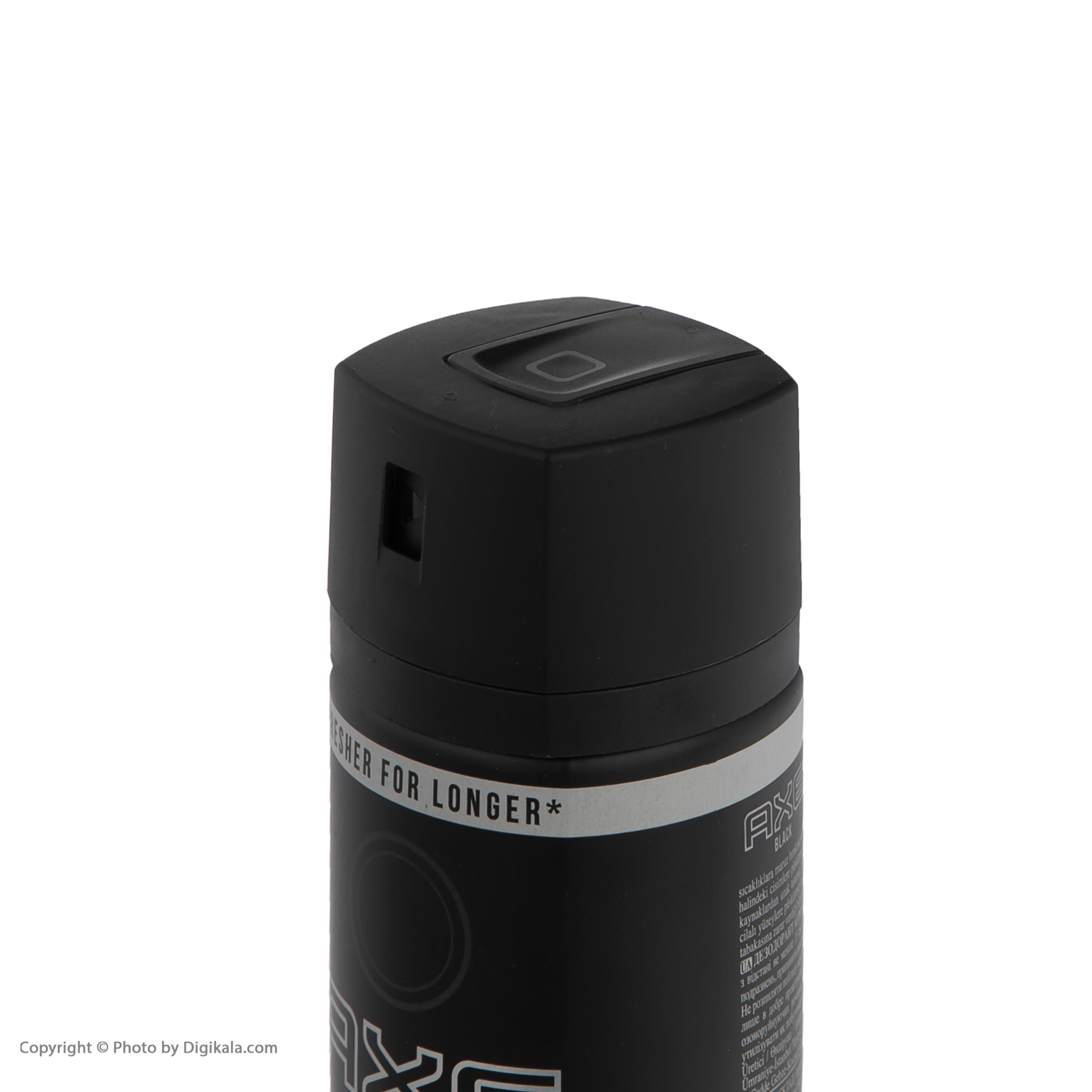 خرید                      اسپری مردانه اکس مدل Black حجم 150 میلی لیتر