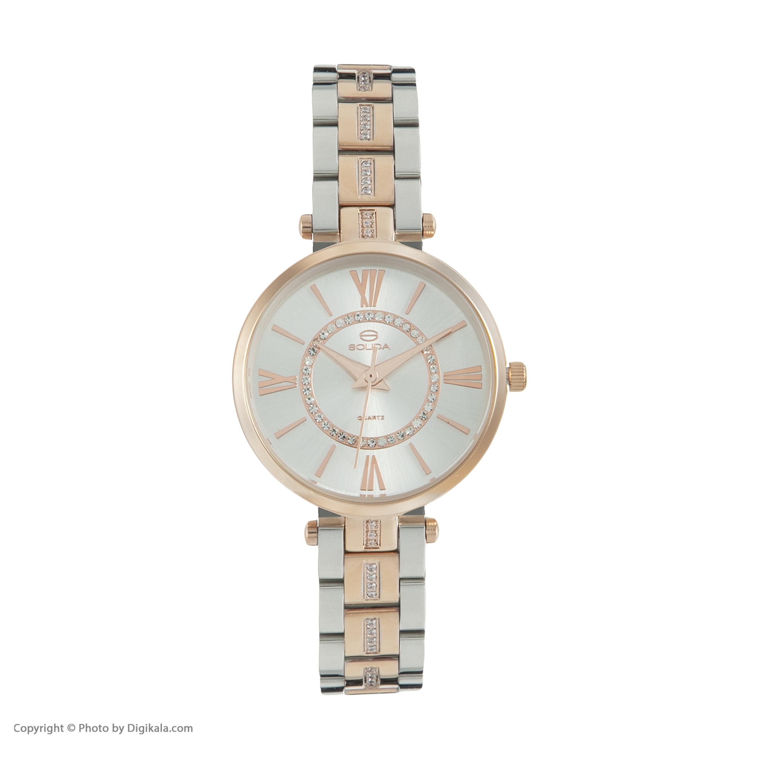 ساعت مچی عقربه ای زنانه سولیدا مدل S1115L کد 02              ارزان
