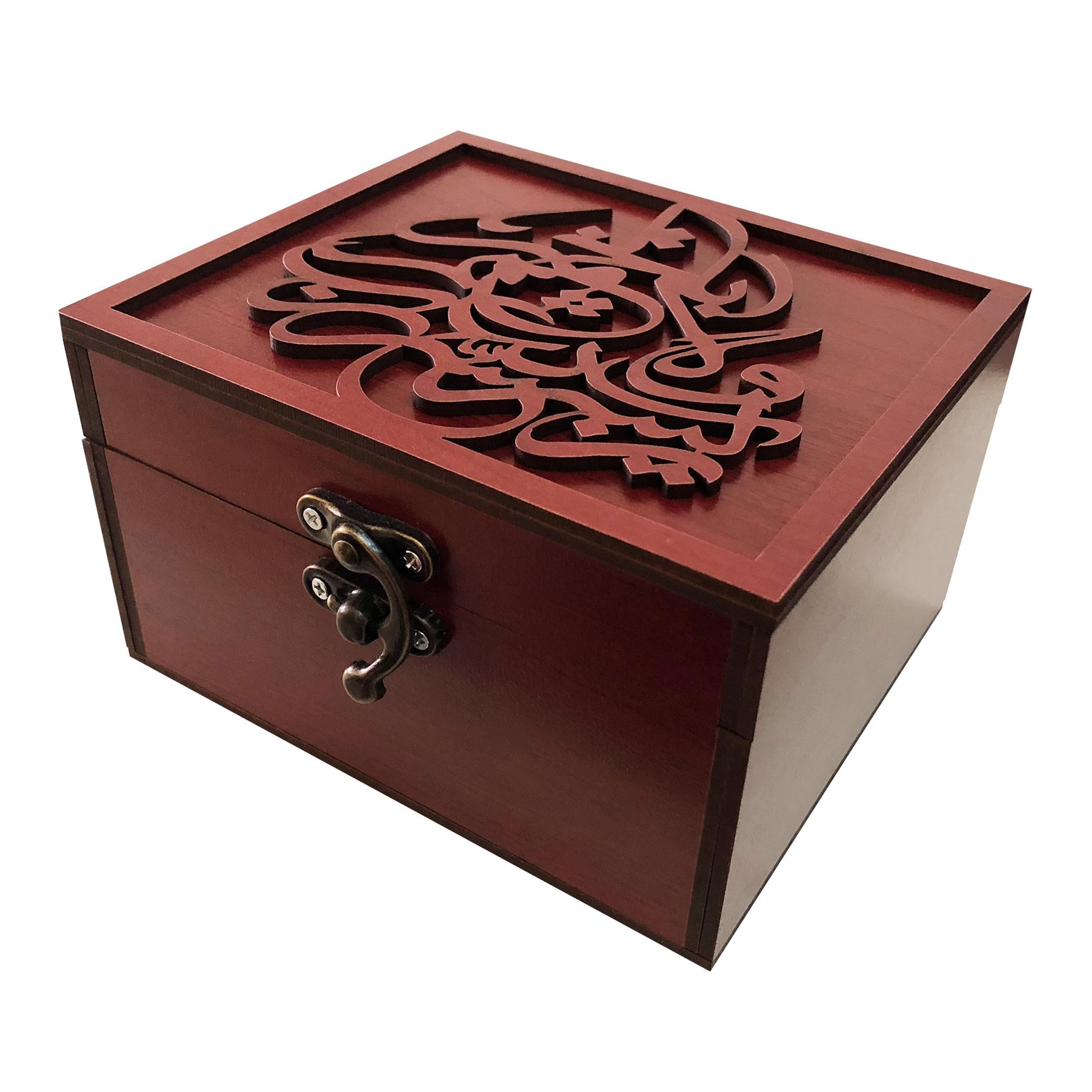خرید                      جعبه هدیه چوبی مدل j87