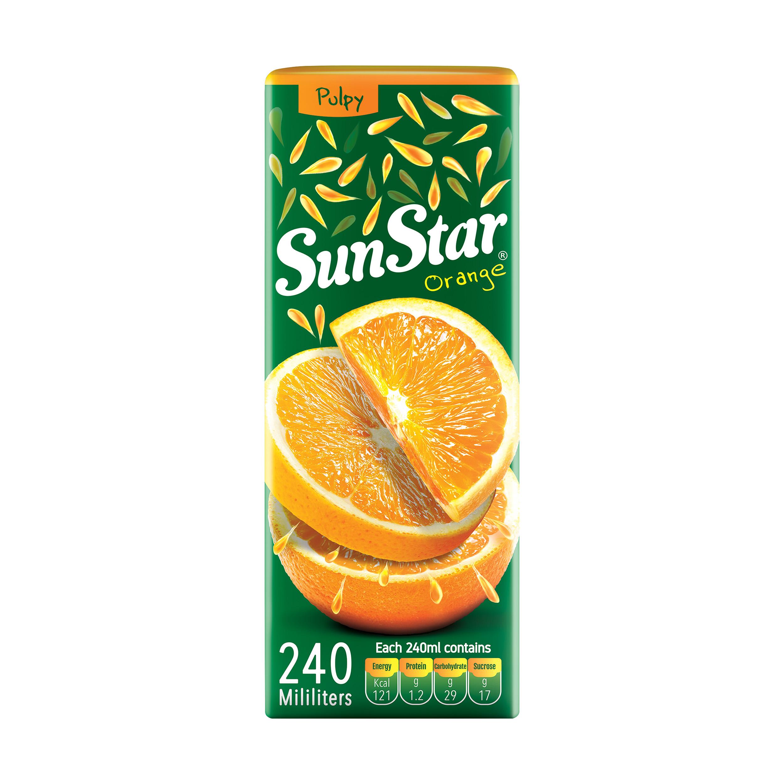 آبمیوه پرتقال سان استار حجم 240 میلی لیتر