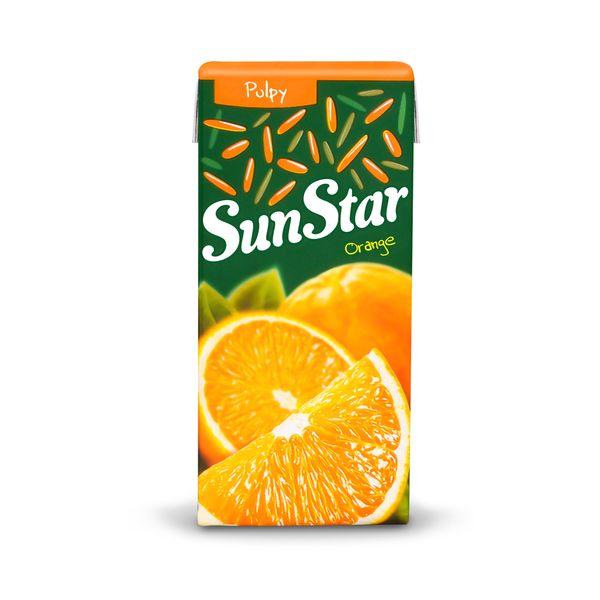 نوشیدنی پالپ دار پرتقال سان استار حجم 0.2 لیتر