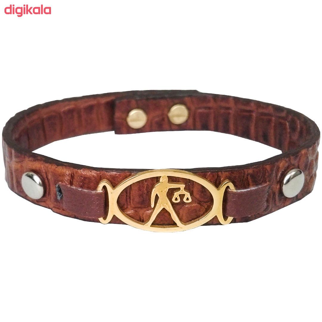 دستبند چرم وارک طرح ماه تولد مهر مدل فرانک کد rb153 main 1 1