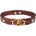 دستبند چرم وارک طرح ماه تولد مهر مدل فرانک کد rb153 thumb