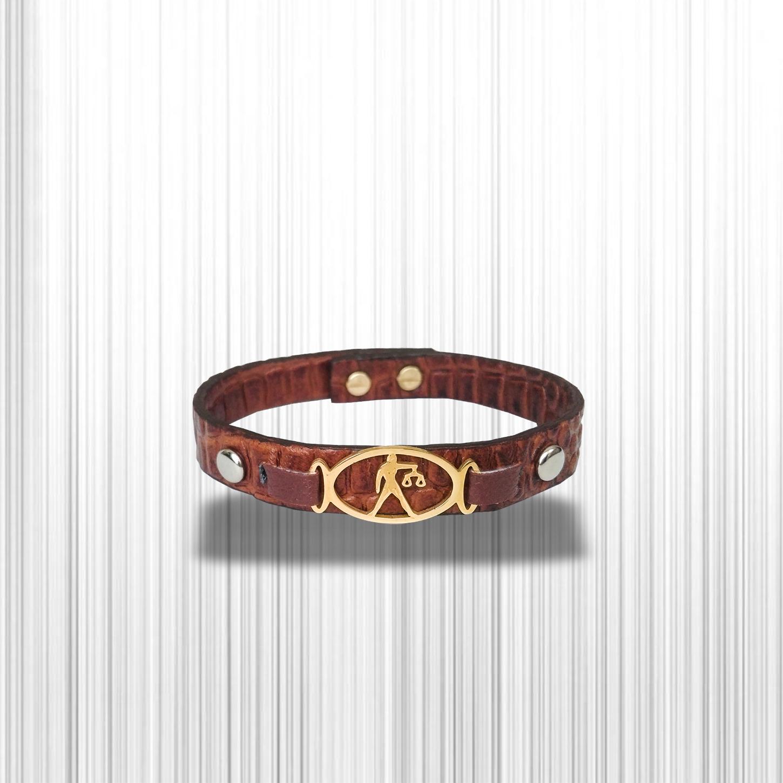 دستبند چرم وارک طرح ماه تولد مهر مدل فرانک کد rb153 main 1 6