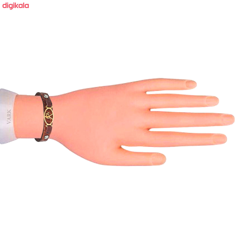 دستبند چرم وارک طرح ماه تولد مهر مدل فرانک کد rb153 main 1 3