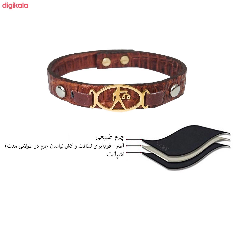 دستبند چرم وارک طرح ماه تولد مهر مدل فرانک کد rb153 main 1 5