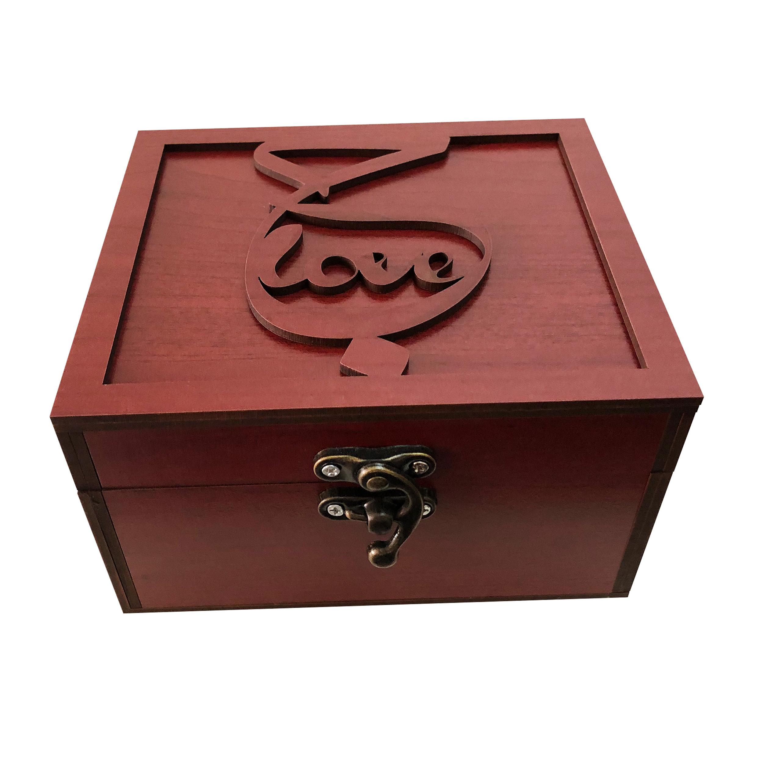 خرید                      جعبه هدیه چوبی مدل j90