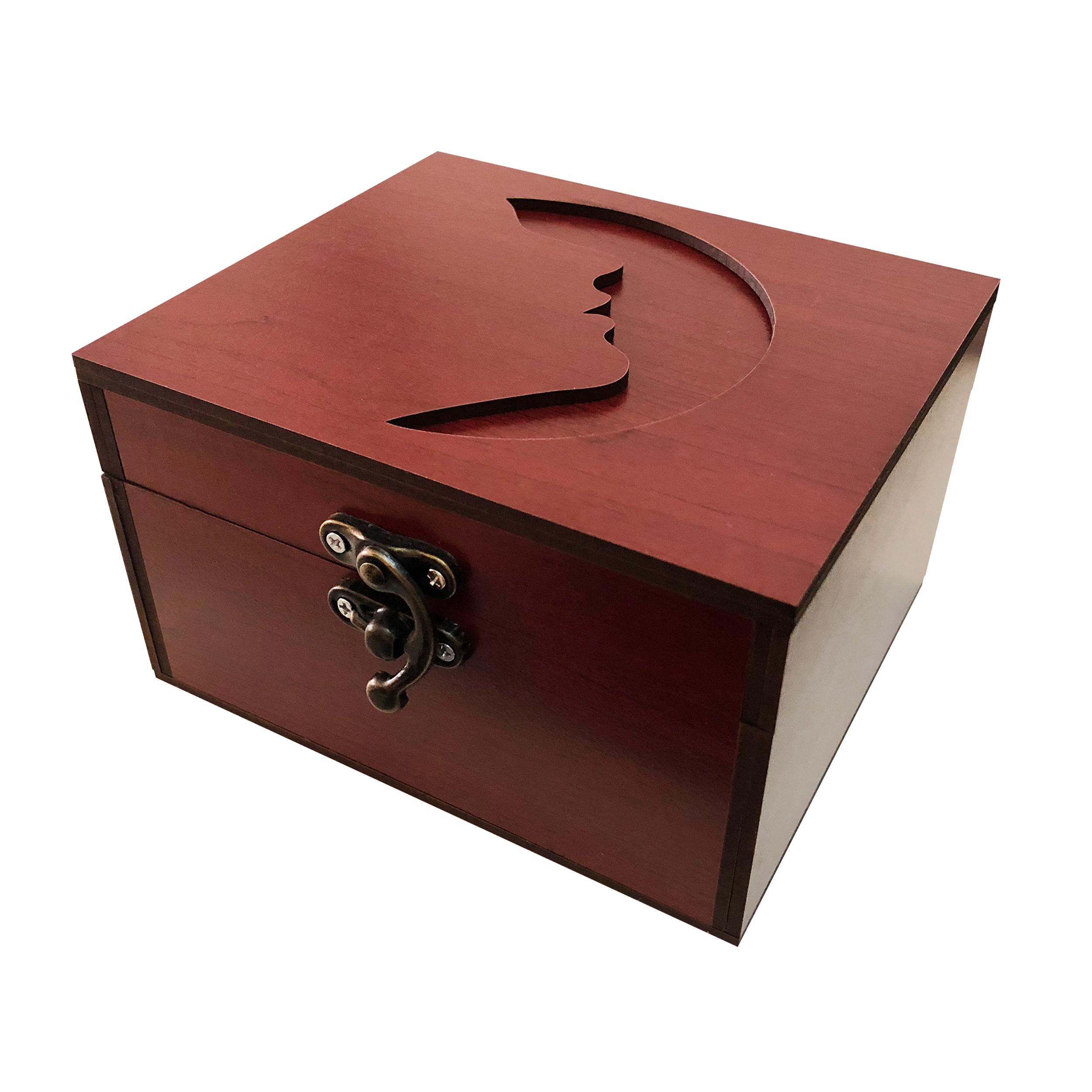 خرید                      جعبه هدیه چوبی مدل j91