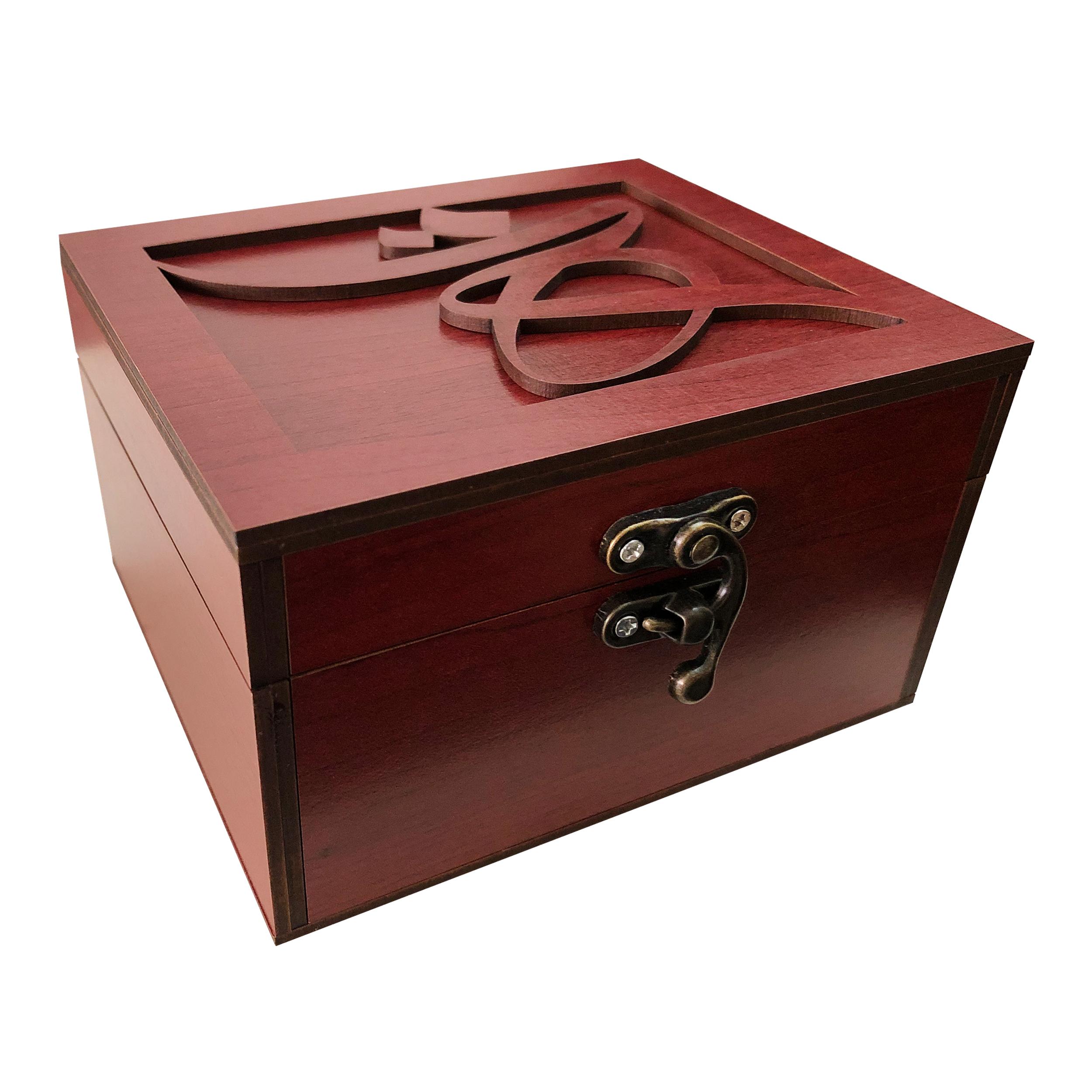 خرید                      جعبه هدیه چوبی مدل j92