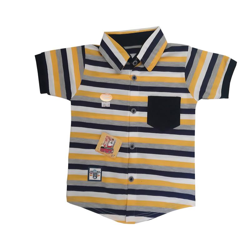 ست 4 تکه لباس پسرانه فسقلیمون کد 1151 رنگ زرد