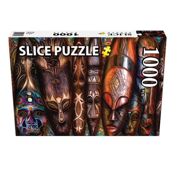پازل 1000 تکه اسلایس پازل مدل ماسکهای آفریقایی کد 08921
