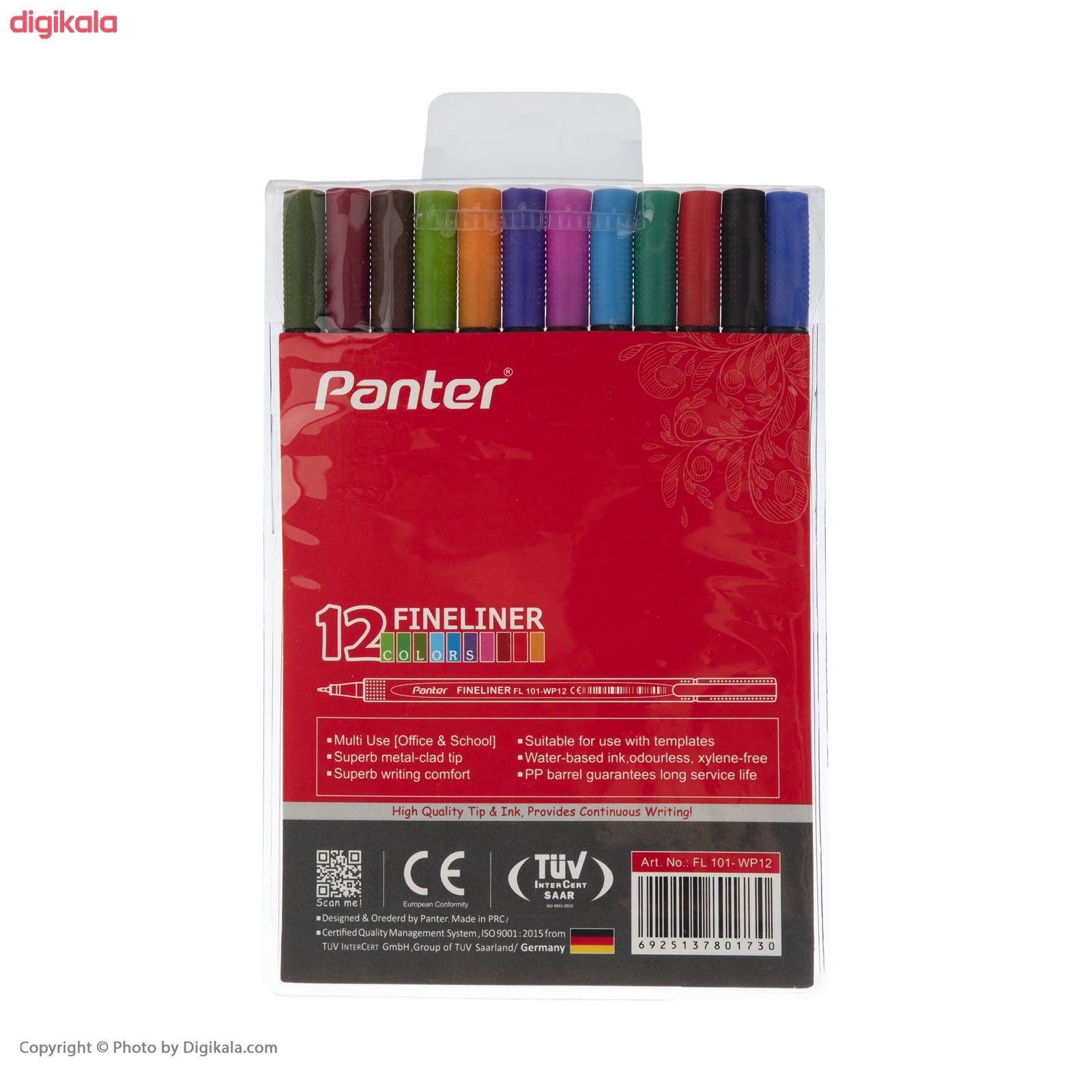 روان نویس 12 رنگ پنتر مدل FL 101-WP main 1 2