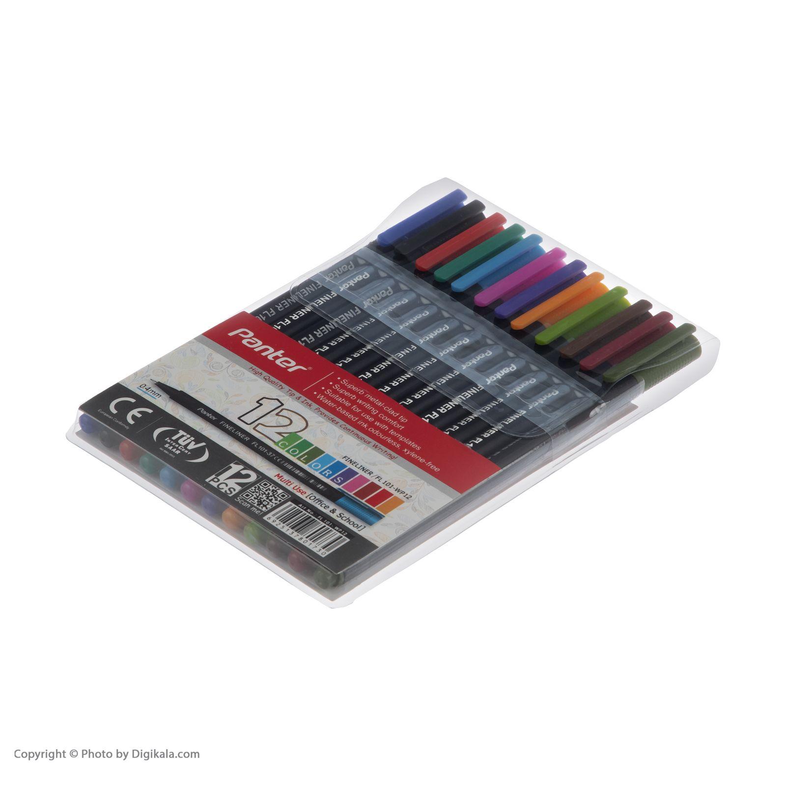 روان نویس 12 رنگ پنتر مدل FL 101-WP main 1 3