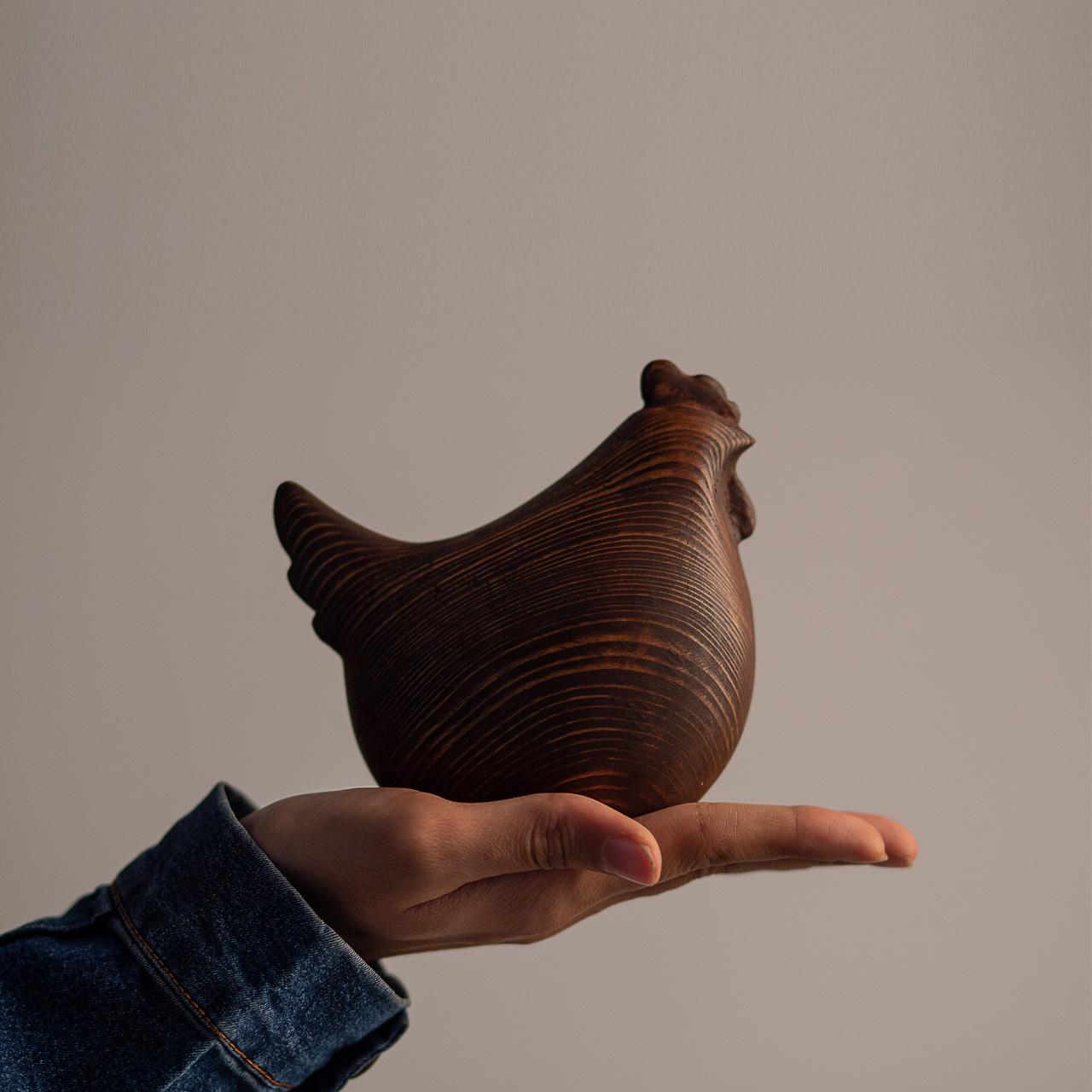 خرید                      مجسمه چوبی مدل مرغ و خروس مجموعه 2 عددی