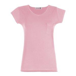 تی شرت زنانه افراتین کد 2515 رنگ صورتی روشن