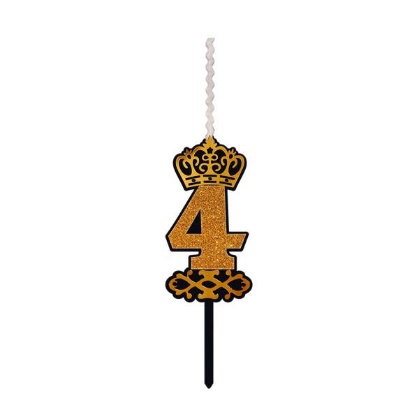 شمع تولد طرح عدد 4 کد AK4