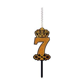 شمع تولد طرح عدد 7 کد AK7