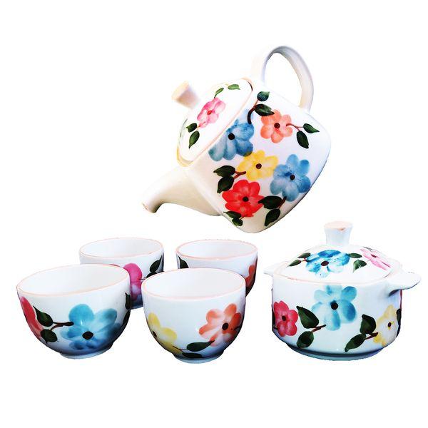 سرویس چای خوری 8 پارچه طرح بهار گل ها کد Schb008