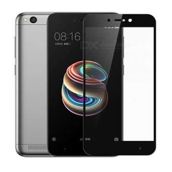 محافظ صفحه نمایش شیشه ای تمپرد مدل Full Cover مناسب برای گوشی موبایل شیائومی Redmi Note 5A prime