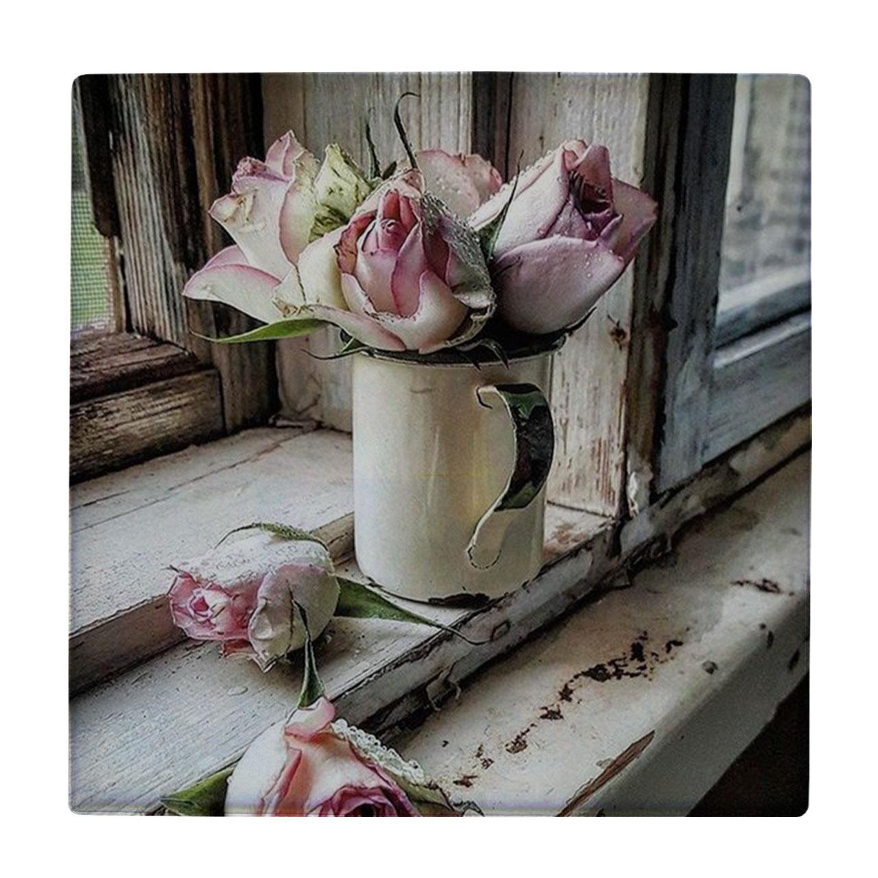 خرید                        کاشی طرح گلدان گل رز کد wk321