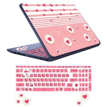 استیکر لپ تاپ کد l-ov02 به همراه برچسب حروف فارسی کیبورد