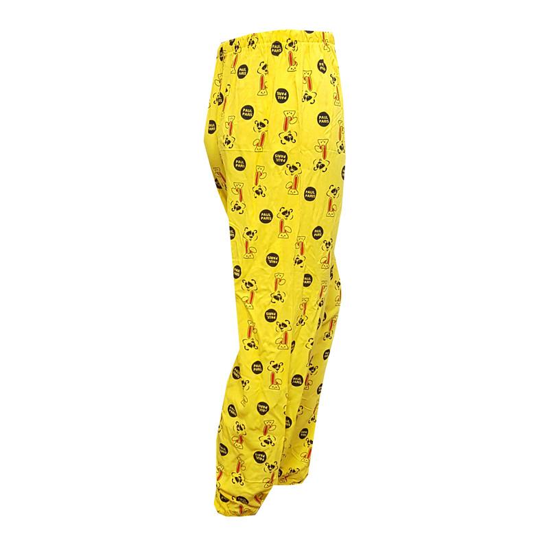 شلوار زنانه طرح paul paris رنگ زرد