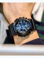 ساعت مچی عقربه ای مردانه کاسیو مدل GA-100CB-1ADR -  - 5