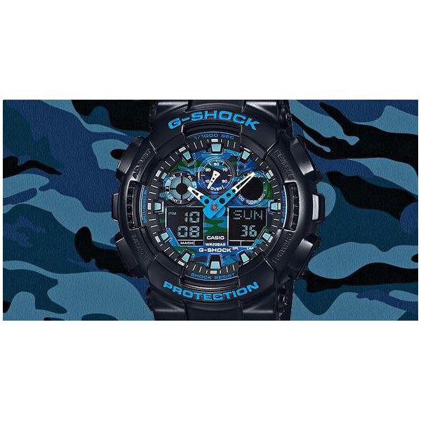 ساعت مچی عقربه ای مردانه کاسیو مدل GA-100CB-1ADR -  - 16