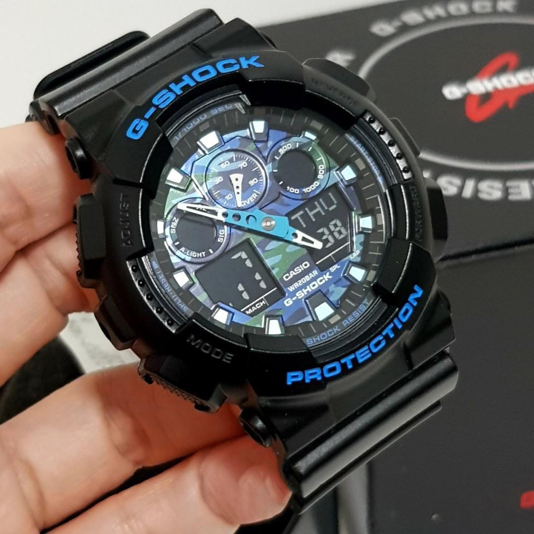 ساعت مچی عقربه ای مردانه کاسیو مدل GA-100CB-1ADR -  - 20