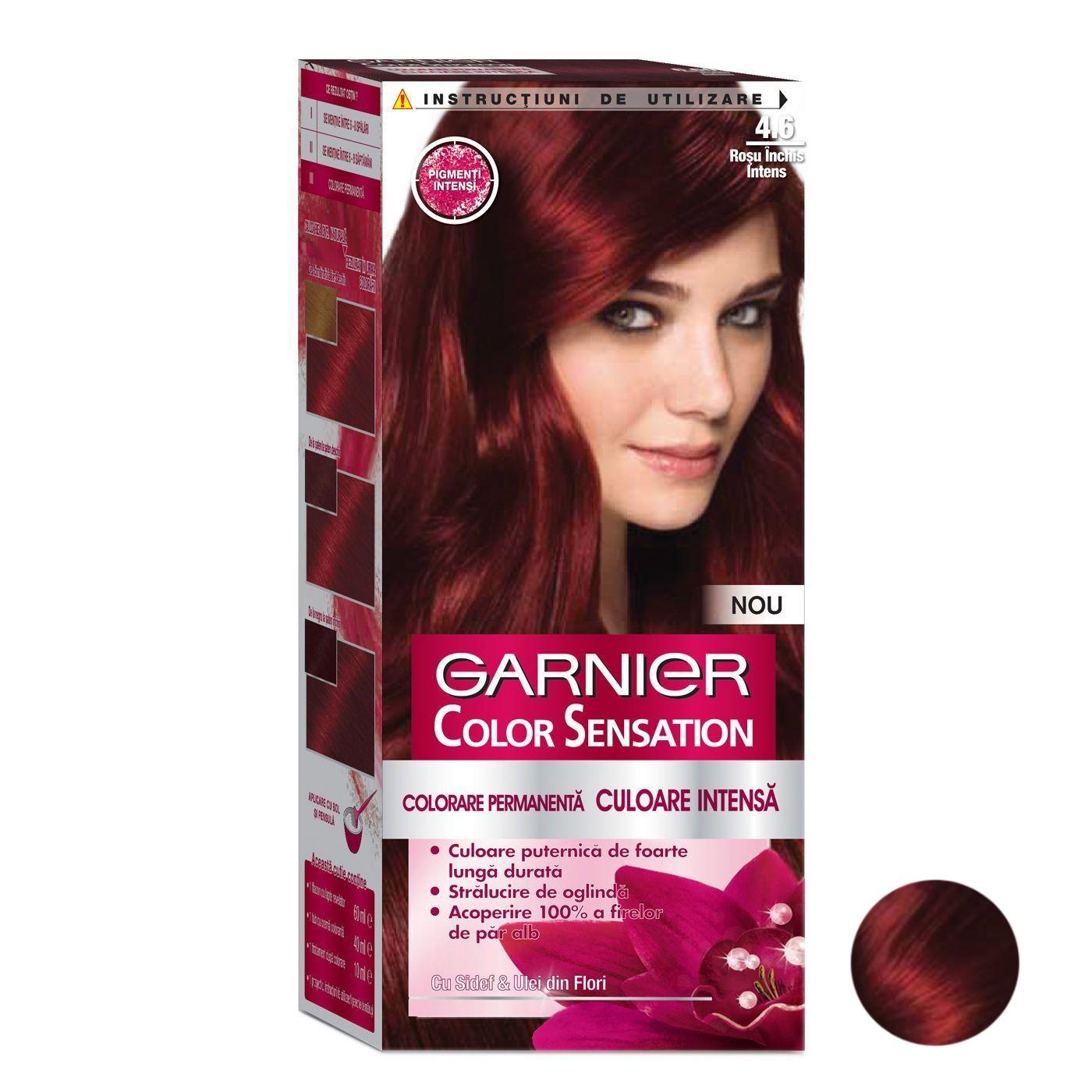 کیت رنگ مو گارنیه شماره 4.60 حجم 40 میلی لیتر رنگ قرمز تیره