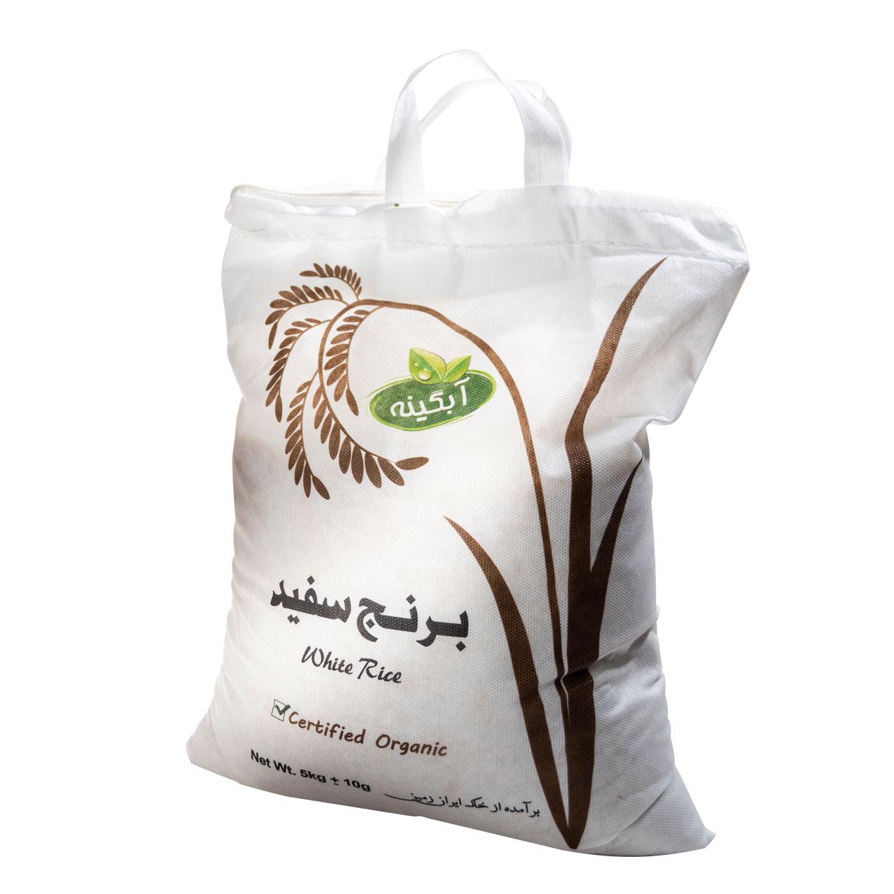خرید                      برنج سفید آبگینه - 5 کیلوگرم