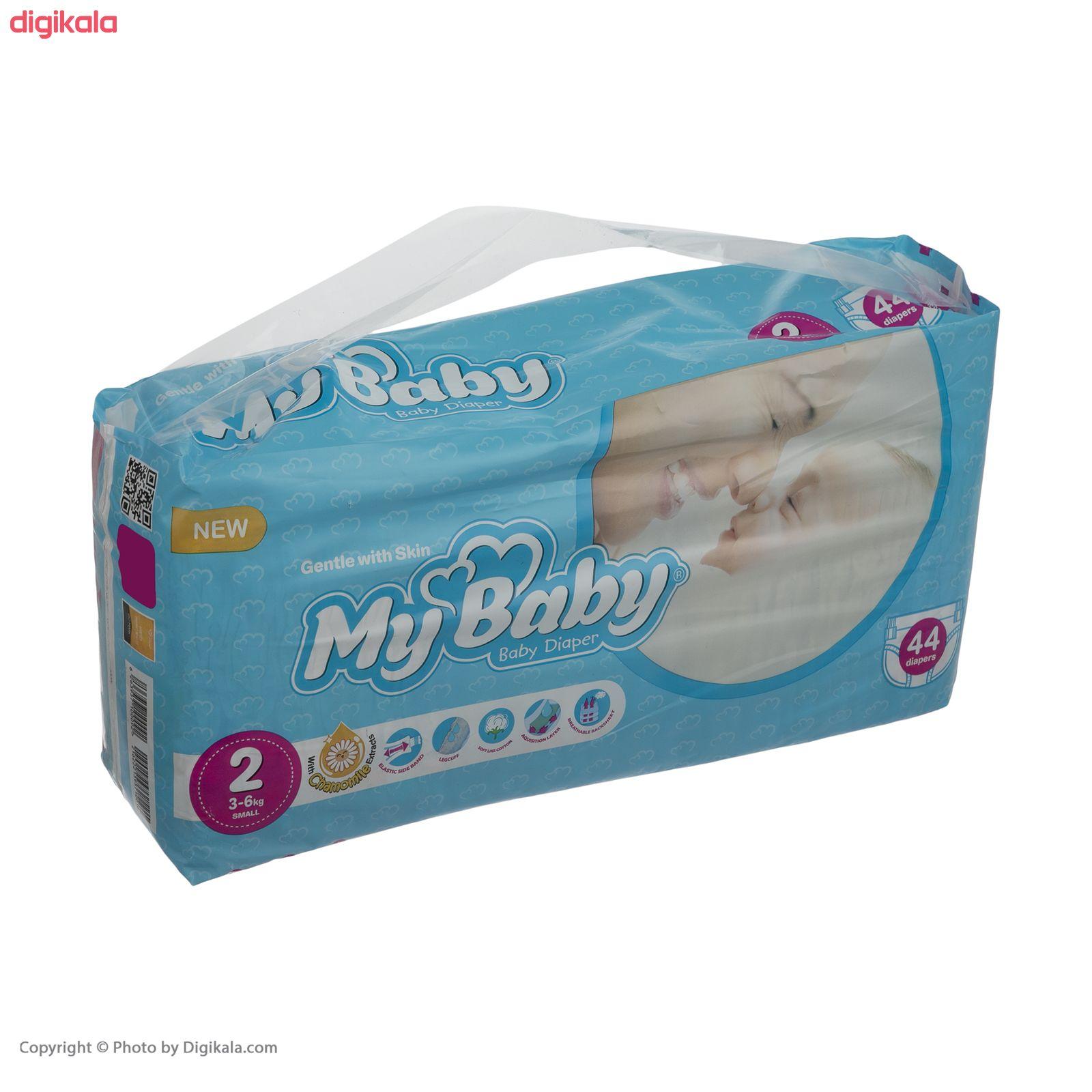 پوشک مای بیبی سری مهربان با پوست مدل Chamomile سایز 2 بسته 44 عددی main 1 2