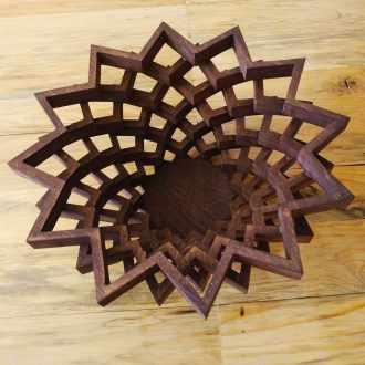 میوه خوری چوبی طرح خورشید مدل 001
