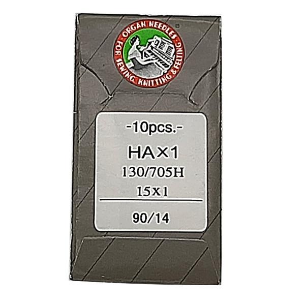 سوزن چرخ خیاطی ارگان مدل HAx1/14 بسته 10 عددی