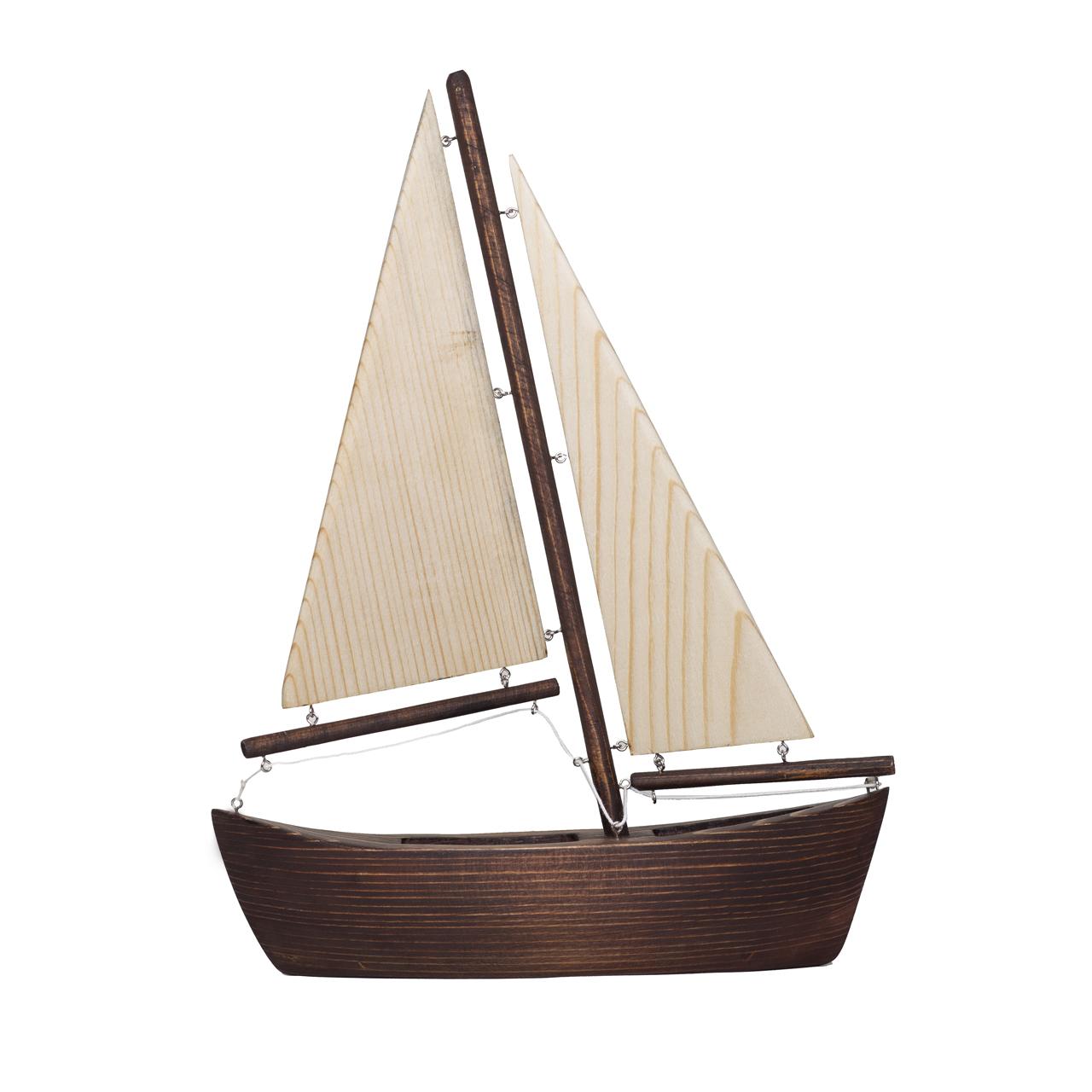 مجسمه چوبی مدل قایق