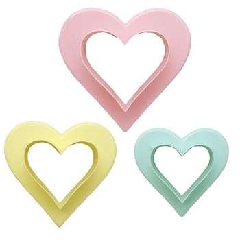 کاتر شیرینی بهگز مدل Heart مجموعه 3 عددی