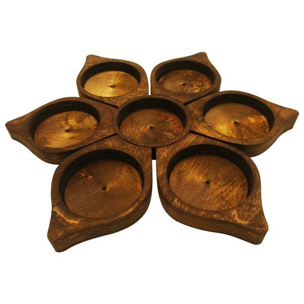 مجموعه ظروف هفت سین هفت پارچه طرح گل مدل 002