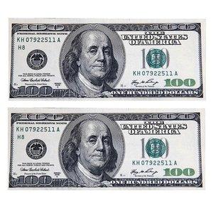 اسکناس تزیینی طرح دلار مدل AB04 بسته 200 عددی