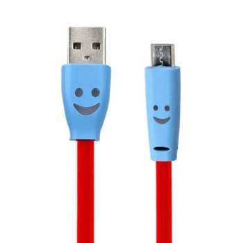 کابل تبدیل USB به microUSB مدل لبخند طول 1 متر