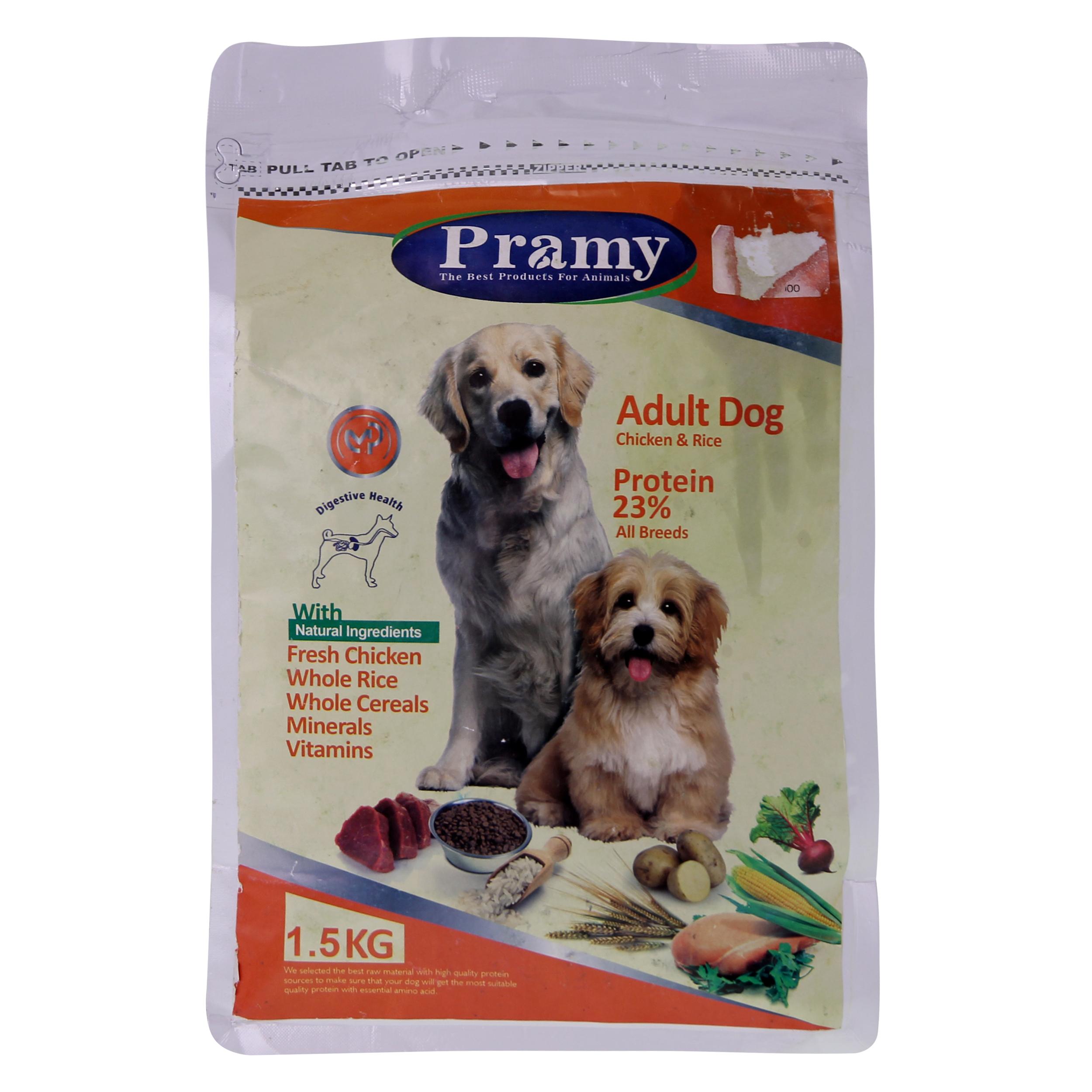 غذای خشک سگ پرامی مدل Adult وزن.5 کیلوگرم
