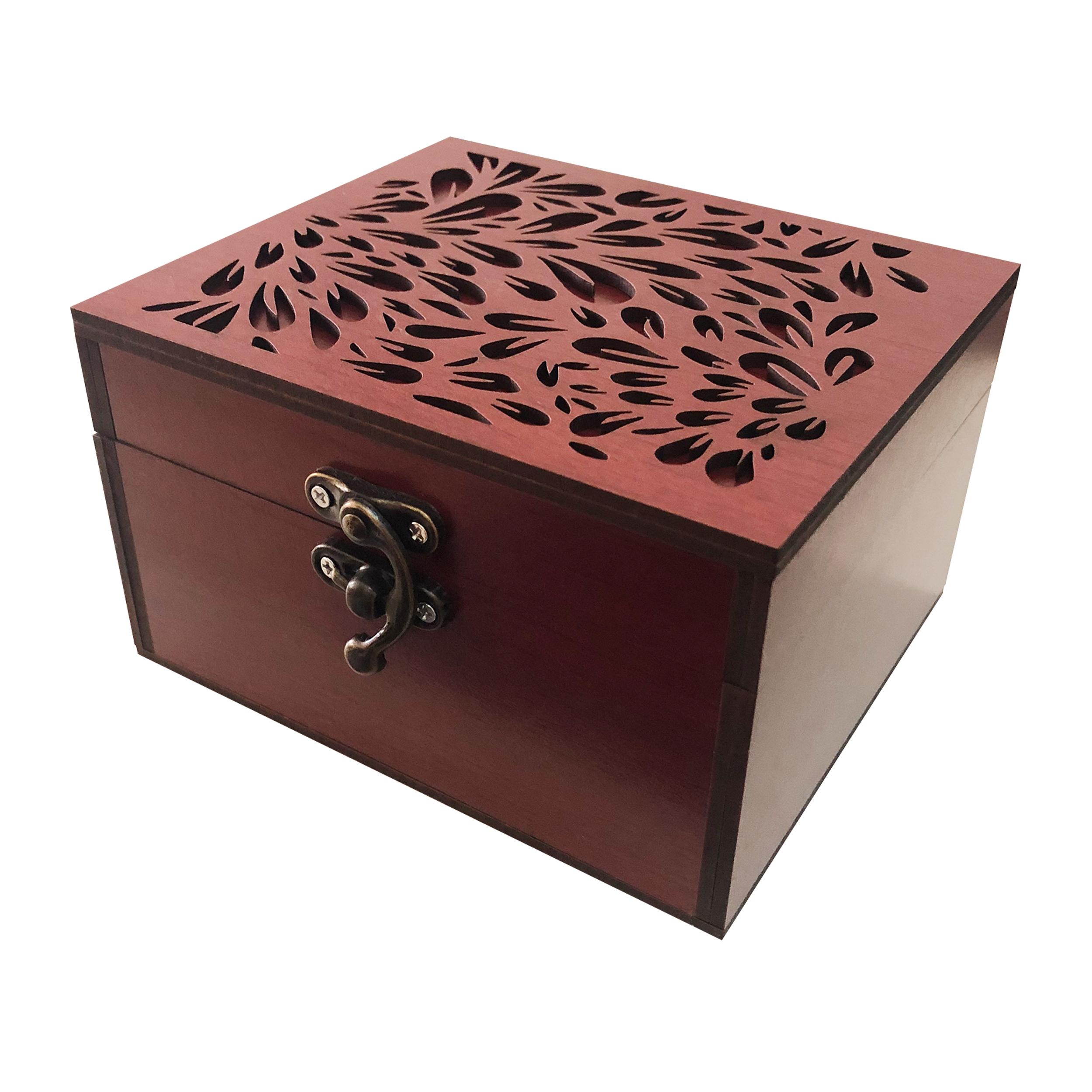 خرید                      جعبه هدیه چوبی مدل j102