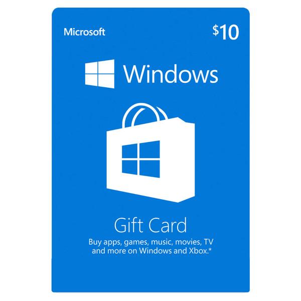 گیفت کارت مایکروسافت ۱۰ دلاری مدل MSO010